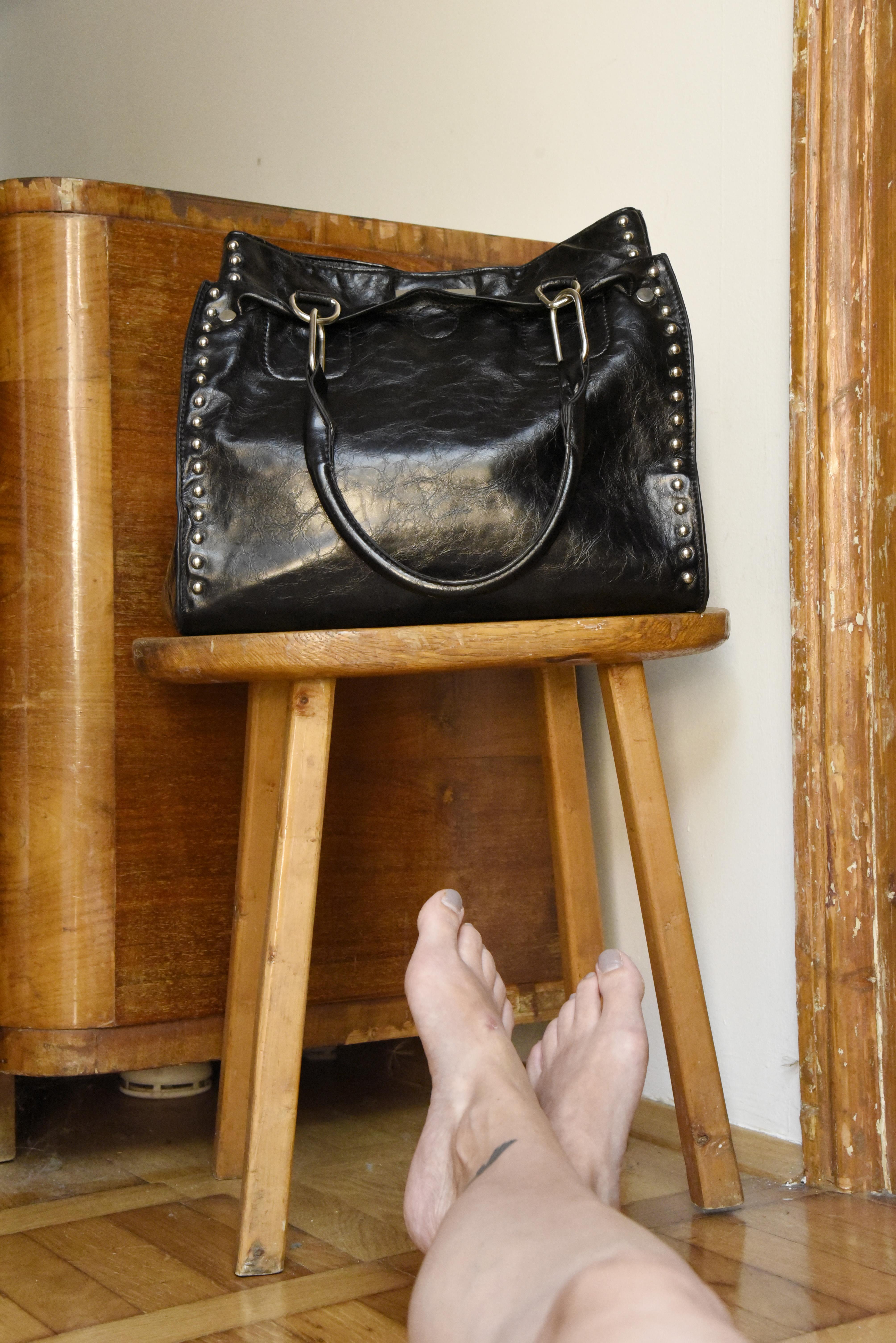 nahkainen käsilaukku